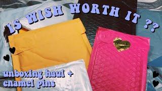 IS WISH WORTH IT??! || bts haul unboxing + enamel pins