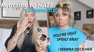 Reacting to HATE comments with my MUM!!😭