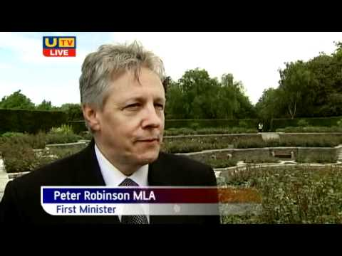 Peter Robinson Greets HM Queen at Islandbridge