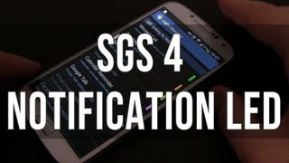 Samsung Galaxy S4: how to tweak the notification LED