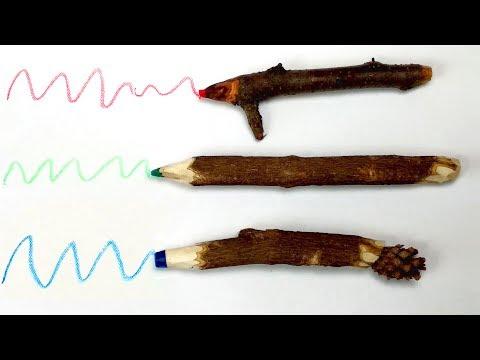 DIY Twig Crayons — Wonderful Crayons Craft Ideas