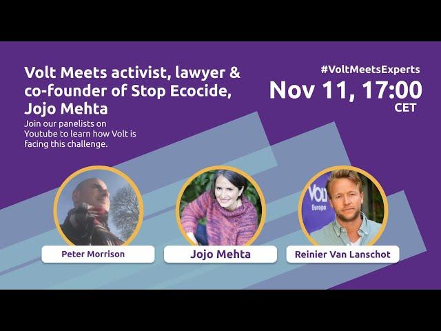 YouTube: Volt meets Experts with Jojo Mehta