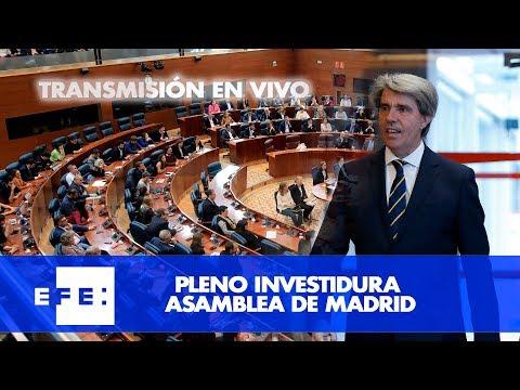 Pleno investidura Asamblea de Madrid