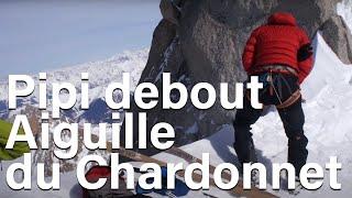 Aiguille du Chardonnet pipi debout avec Marion Poitevin Chamonix Mont-Blanc alpinisme - 8843