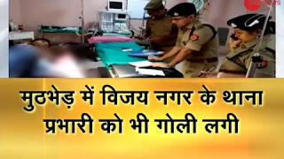 Ghaziabad: Clashes between police and miscreants, 2 miscreants injured