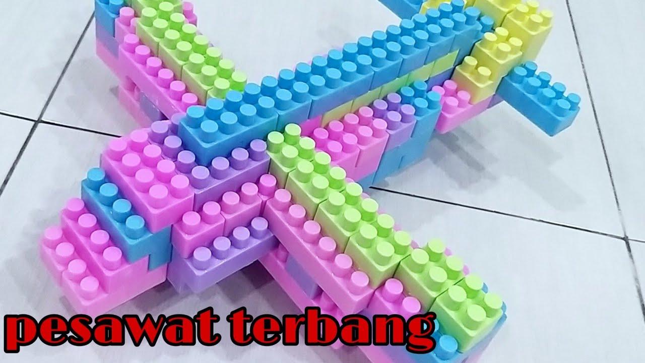 Cara membuat pesawat terbang dari lego - YouTube