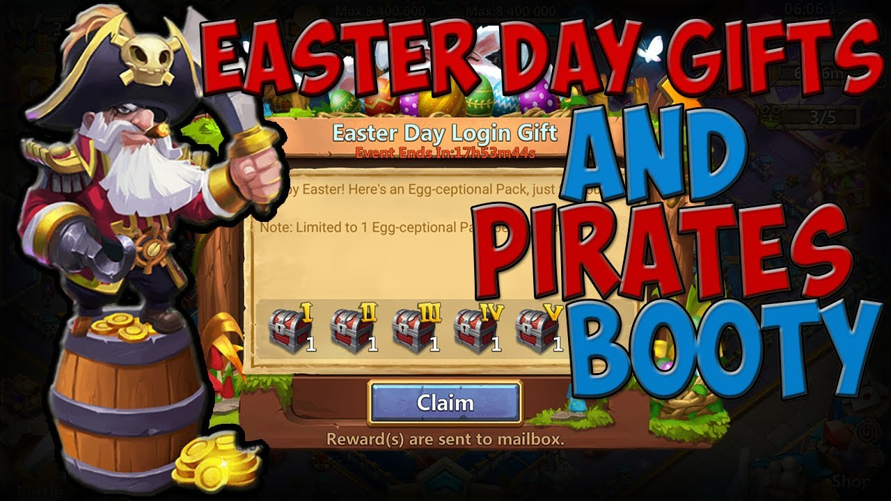 Castle Clash Free Easter Day Gifts Pirate Booty Rolls Youtube