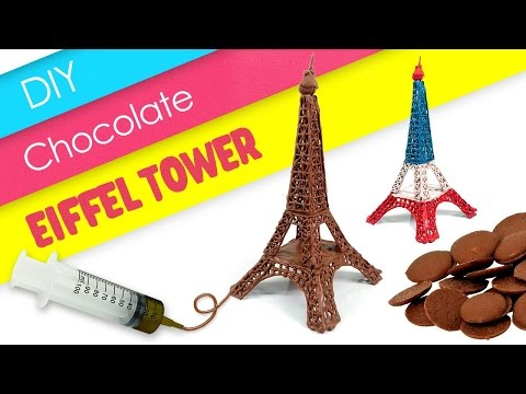 DIY Chocolate Eiffel Tower ! Melting Milk Chocolate Eiffel | MonsterKids