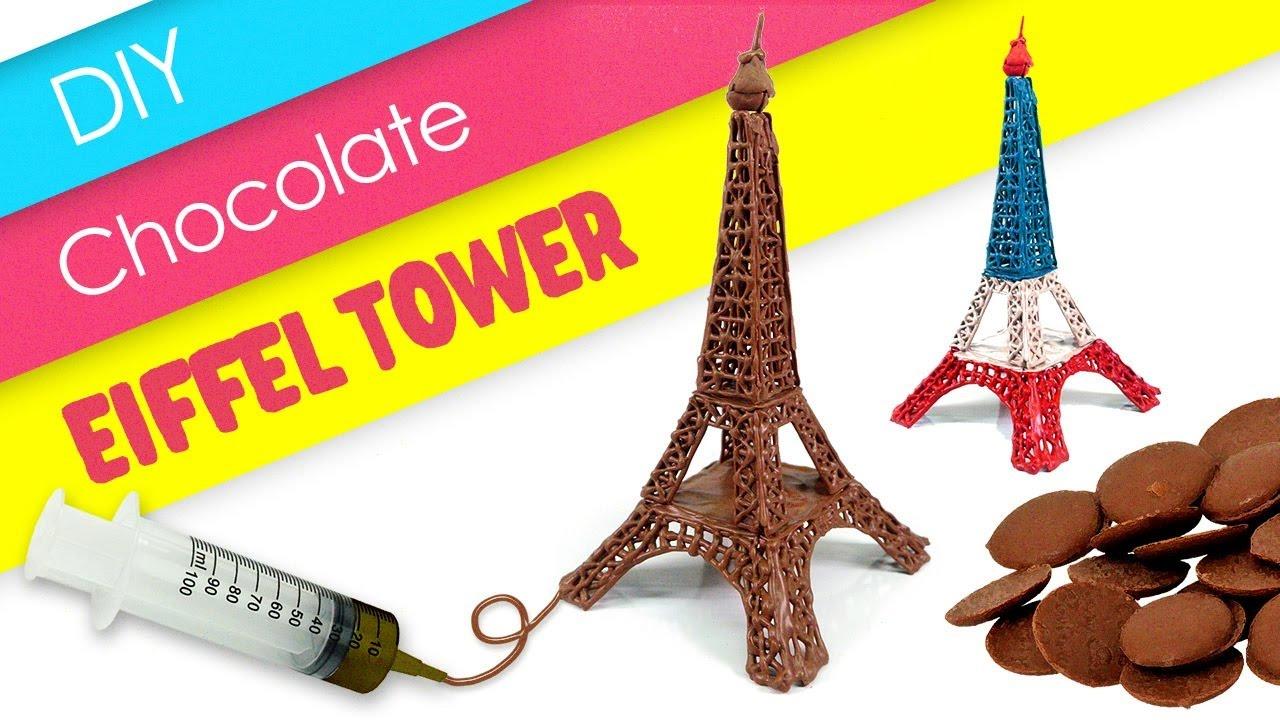 Diy Chocolate Eiffel Tower Melting Milk Monsterkids
