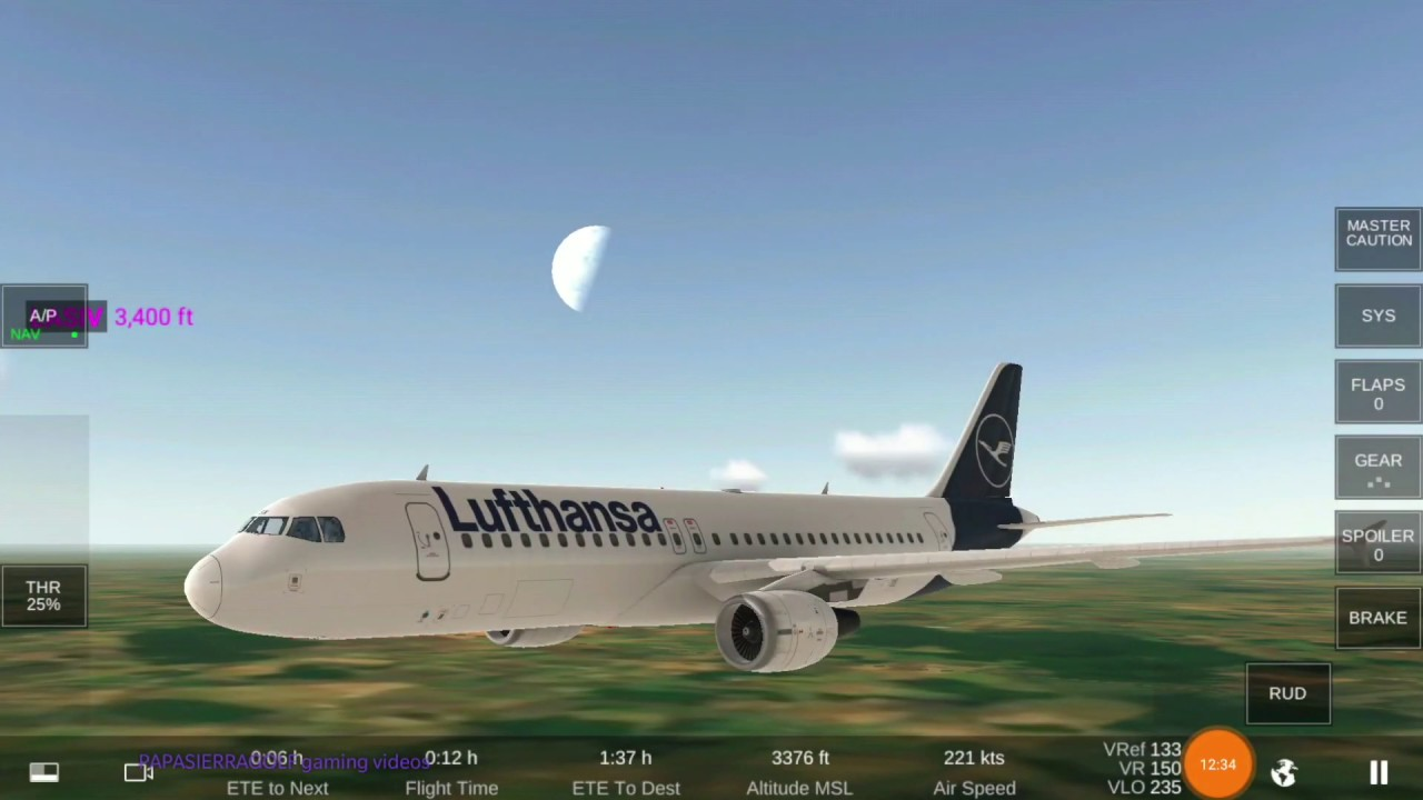 PARIS TO MUNICH - REAL FLIGHT SIMULATOR PRO BETA RFS by RORTOS LUFTHANSA  LH2227 REAL TIME FLIGHT
