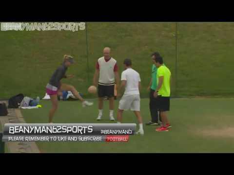 Maria Sharapova the beautiful russian Shows Off Her Football Skills At Wimbledon