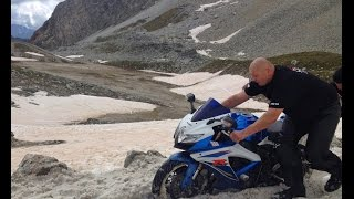 Stella Alpina Rally 2014   GSX-R600, F800Gs, R1200Gs Riding highest  mountain road in the Alps