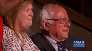 During the Roll Call of States, Larry Sanders casts his vote for his brother Bernie Sanders at the Democratic National Convention. More videos here: ...
