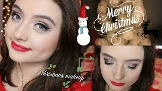 Christmas Makeup Tutorial || MissTaylorxoable Thumbnail