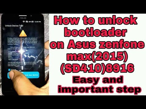 How to unlock bootloader on asus zenfone max(2015)sd410 2mint very