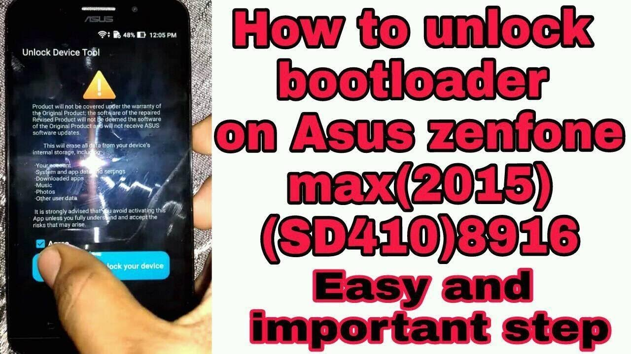 How to unlock bootloader on asus zenfone max(2015)sd410 2mint very easy  process