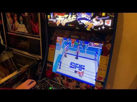 First Look: Retromania Wrestling Nintendo switch running on modded Arcade1up from Kelsalls Arcade