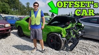 I Found Offset's Wrecked Hellcat at a Copart Salvage Car Auction! *Migos*