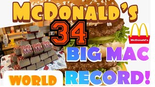 MCDONALD'S BIG MAC WORLD RECORD 33? ~ MORE THAN JOEY CHESTNUT ~ FT K!LLER KENNEDY/MCDONALD'S MUKBANG