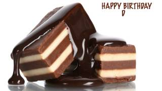 D  Chocolate - Happy Birthday