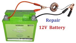 How to Repair or Restore any 12V Battery ( UPS Battery or Car Battery ) - Reuse Dead Battery
