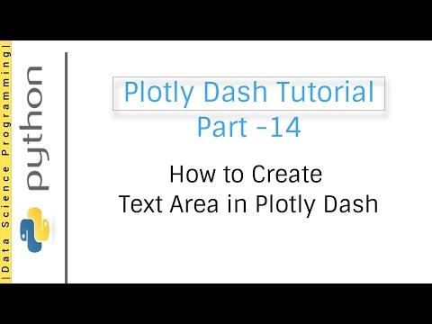 14 How to Create Text Area in Plotly Dash