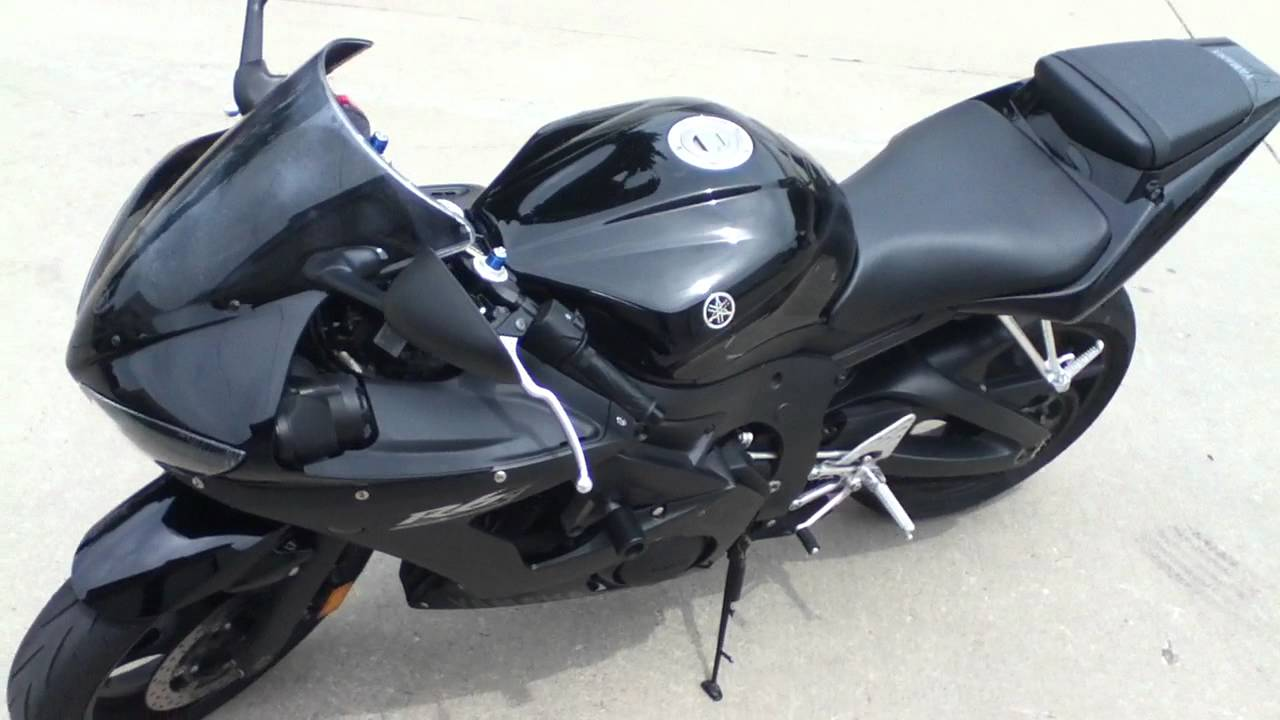 2008 Yamaha R6s Raven Black Special Edition
