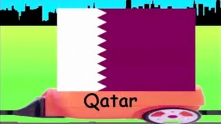 Learn Flag Train 10 - learning national flags of countries for kids
