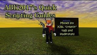 Roblox Scripting Guide: Leaderstats, creator tag and Enemy/NPCs