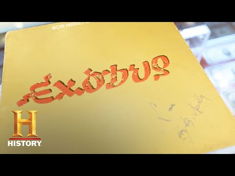 "Pawn Stars: Signed Bob Marley ""Exodus"" Album Sleeve (Season 14)   History"
