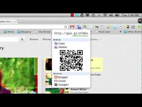 Goo.gl URL Shortener and QR Code Generator