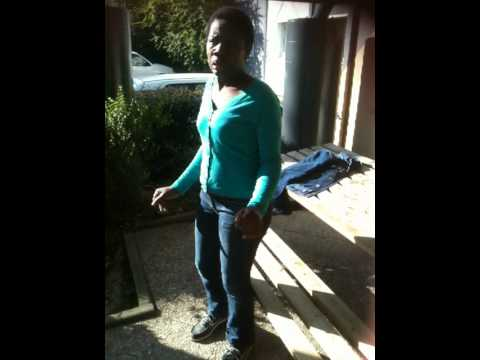 prière d'une jeune africaine