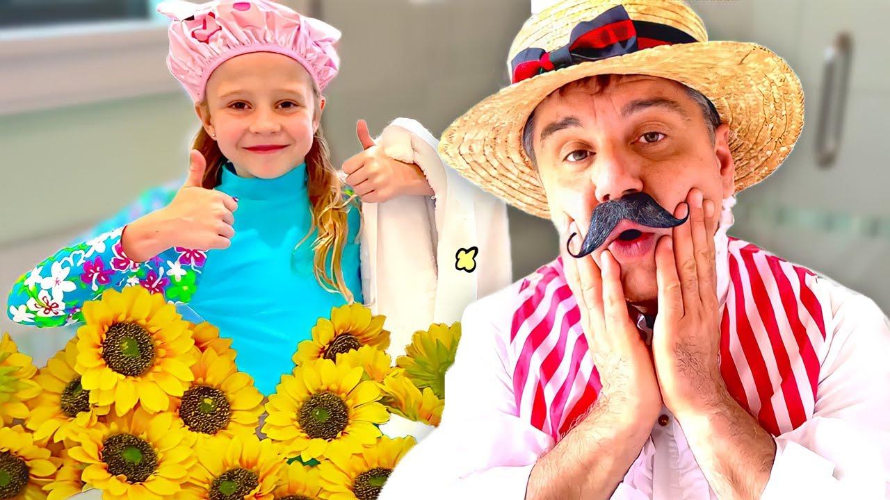 ناستيا وقصة لعبة الفندق المضحكة مع بابا