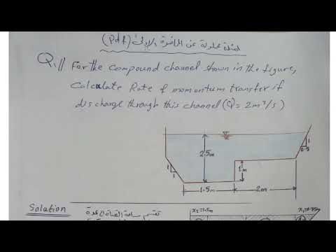 Examples on Lectures-part #1: Rate of energy and momentum in Compound Channel