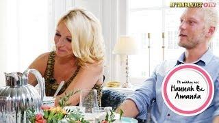 Martina Haag och Thomas Järvheden i På middag hos Hannah & Amanda
