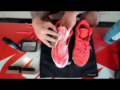 The best way to clean the Nike Lebron 8 Solar Red