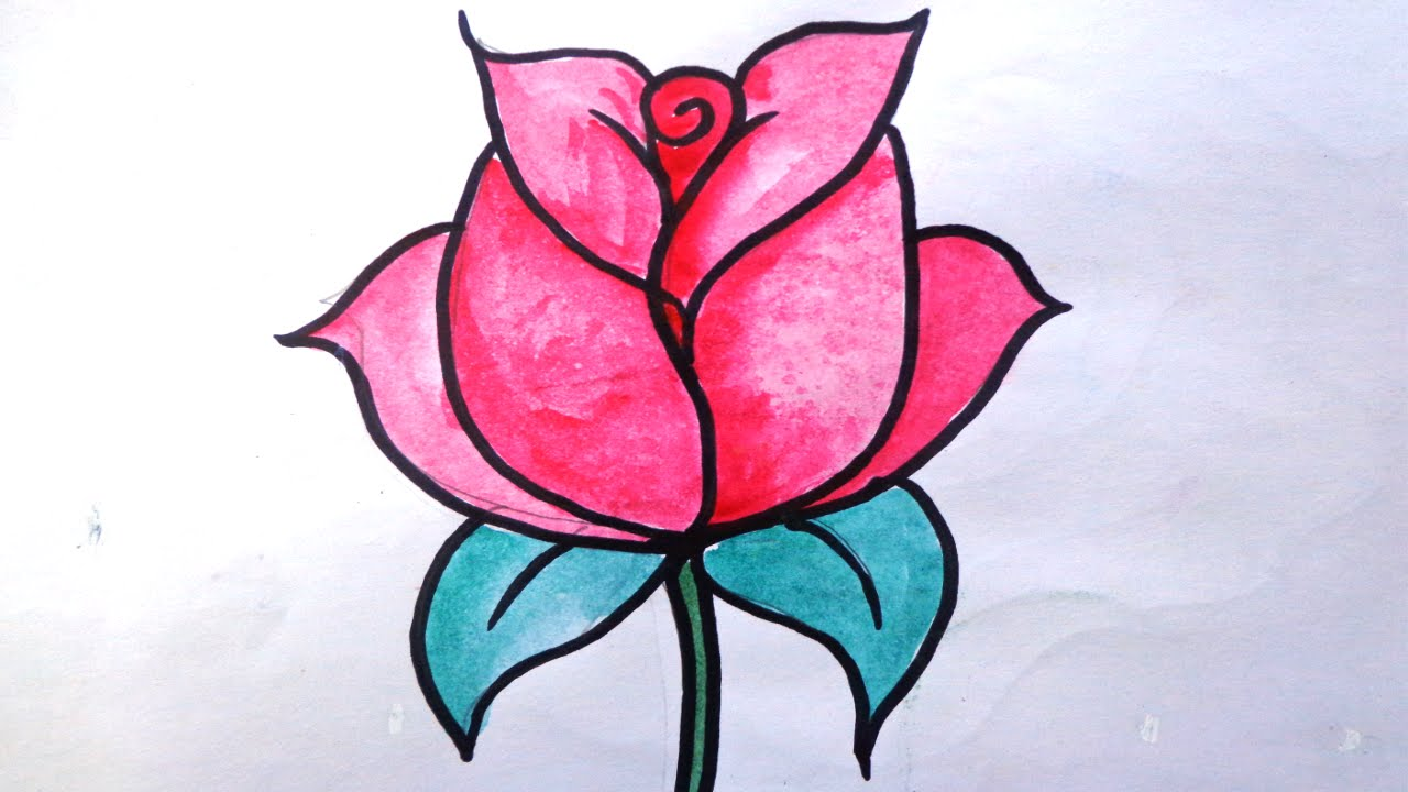 How to draw a rose for kids draw rose how to draw rose how to draw a rose for kids draw rose how to draw rose flower ccuart Image collections