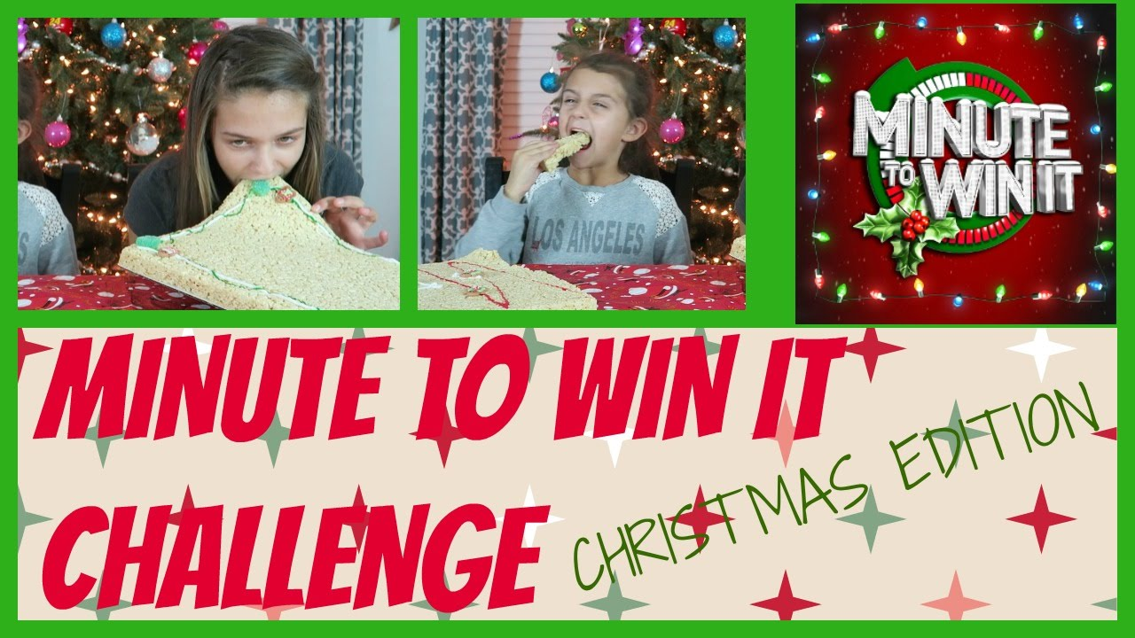 Minute To Win It Christmas.Minute To Win It Challenge Christmas Edition