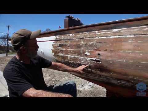 How to strip paint off your wooden boat using a heat shrink gun
