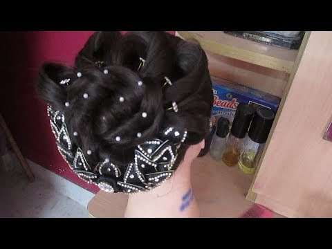 Latest Wedding Party Twisted Bun Hairstyle