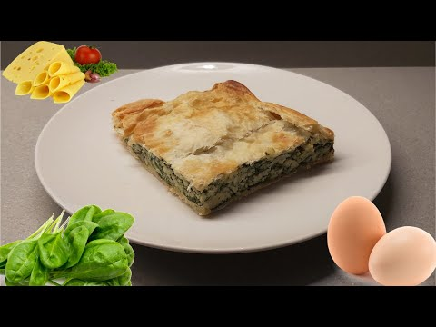 Easy SPINACH PIE | DELICIOUS REALLY SIMPLE AND QUICK RECIPE | Spanakopita