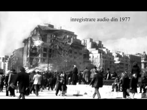 Cutremurul din 1977 - Inregistrare audio