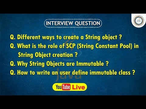 Session-28 || 9:30PM Live || String Class Question in Java ||  Java Interview Question by JTC