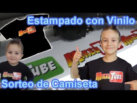 Impresora y estampación de vinilo en camisetas Mikel Tube + Sorteo