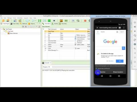 Web Application Test Automation Over Android Device
