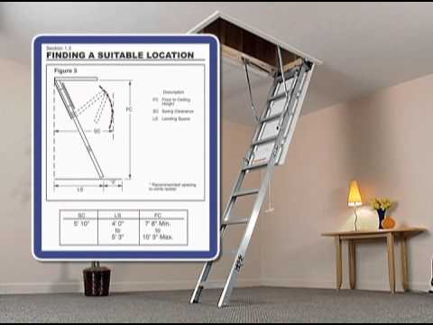 Werner Aluminum Attic Ladder Short Installation Video