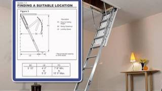Werner Aluminum Attic Ladder - Short Installation Video