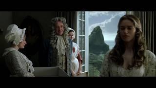 Губернатор Суонн дарит платье Элизабет. Уилл Тёрнер встречается с Элизабет. HD