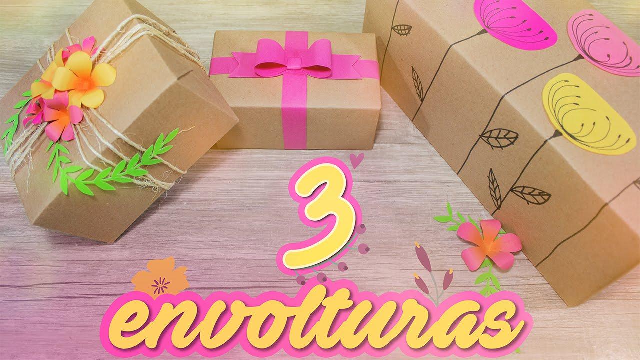 DIY Las ENVOLTURAS para regalos mas lindas ESPECIAL PARA MAM