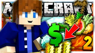 FARMING FOR STACKS OF MONEY! | Minecraft SKYBLOCK SURVIVAL #2 w/ KingPenguin & Admisful